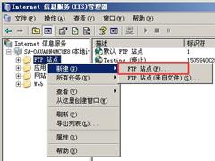 Win2003系统FTP服务器配置教程