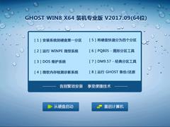 GHOST WIN8 X64 装机专业版 V2017.09(64位)