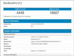 首发i7-8559U!2018款苹果MacBook Pro跑分首曝光