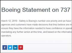 美交通部长赵小兰下令审核波音737 Max飞机?#29616;?#36807;程