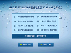 GHOST WIN8 X64 装机专业版 V2019.09(64位)