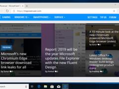 微软:Chromium版Edge滚动响应速度已与经典版相同