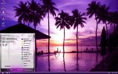 暗紫的海边主题