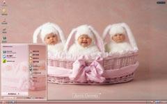 可爱兔宝宝xp主题