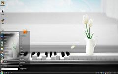 钢琴上的鲜花win7主题下载