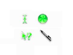 苹果系统鼠标指针-绿