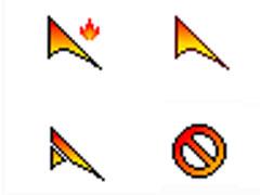 炫亮火焰鼠标指针