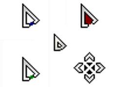 个性三角板鼠标指针
