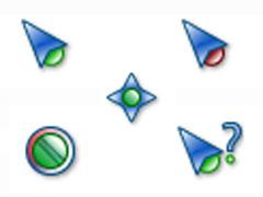 綠色小顆粒鼠標指針