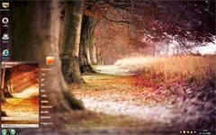动人的秋色win7风景主题
