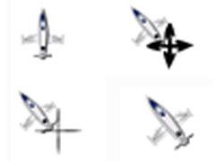個性戰斗機鼠標指針