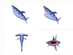 可爱鲨鱼鼠标指针