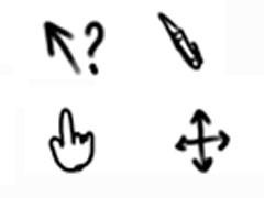 手繪手勢鼠標指針