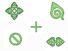 綠色圖案鼠標指針