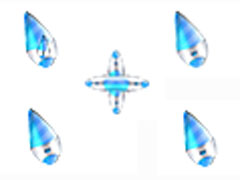 藍色飛行器鼠標指針