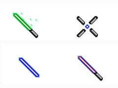 藍色熒光棒鼠標指針