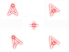 個性熒光紅鼠標指針