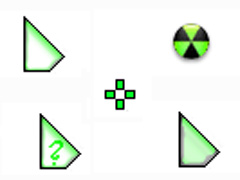 淺綠三角椎鼠標指針