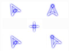 熒光紫鼠標指針