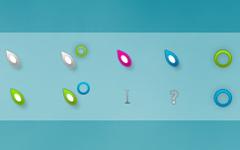 五顏六色葉子鼠標指針