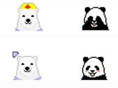 搞怪熊猫鼠标指针