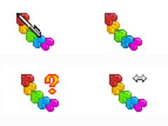 彩色串串心鼠標指針