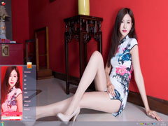 中式旗袍美女Win7主题