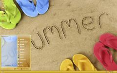 凉爽沙滩xp主题
