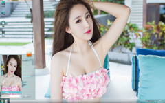性感美女刘奕宁写真Win7主题