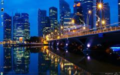 新加坡都市夜景Win7主题