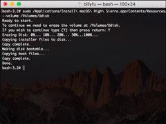怎么手動制作macOS High Sierra安裝盤?