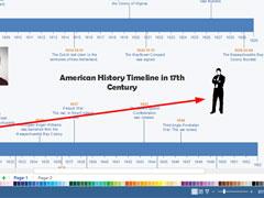 Edraw Max怎么绘制横向时间轴?亿图图示绘制横向时间轴的方法