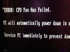 """電腦重啟后出現""""ERROR:cpu fan has failed""""的解決辦法"""