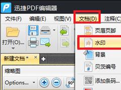 迅捷PDF編輯器怎么修改PDF水��?