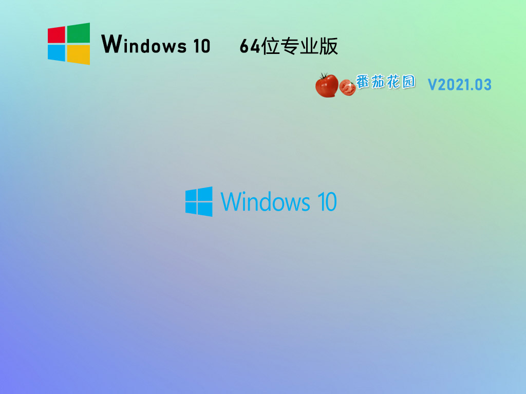 番茄花园Win10 64位全新专业版 V2021.03