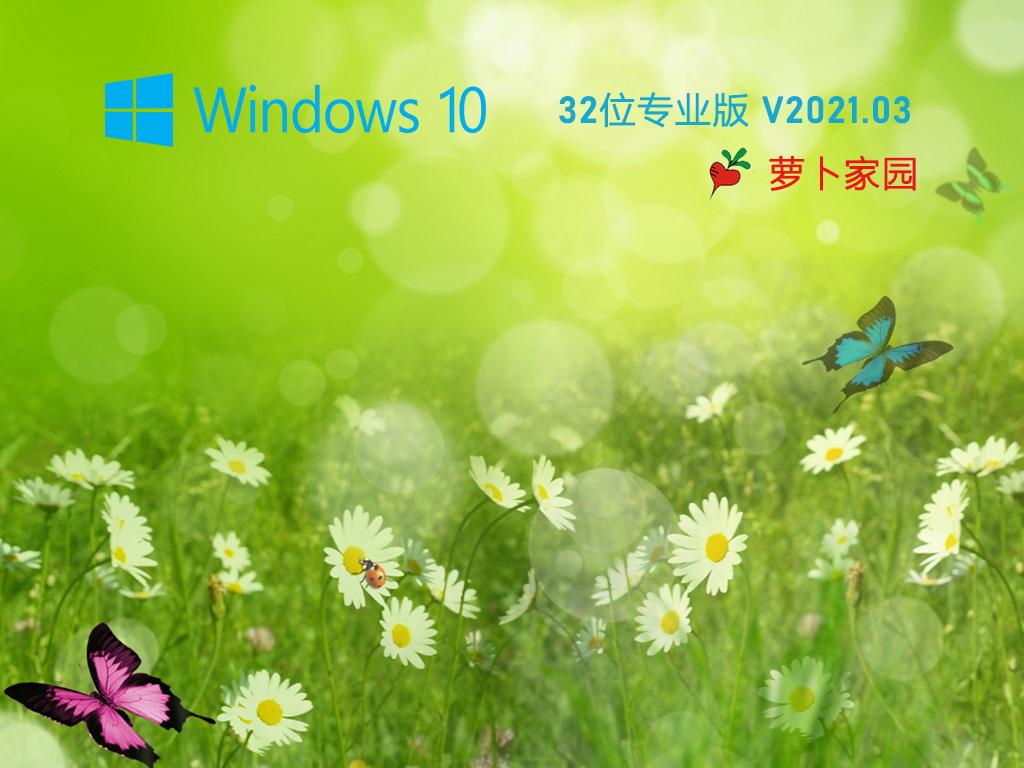 蘿卜家園 Ghost Win10 32位 純凈專業版 V2021.03