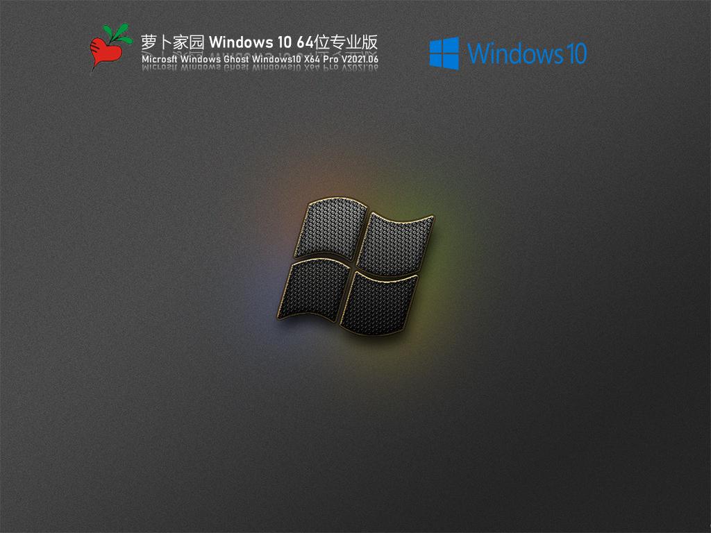 萝卜家园Win10 21H1 64位专业版 V2021.06