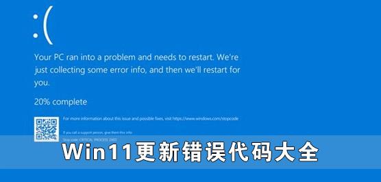 Win11更新错误代码大全 Win11升级失败出现错误代码汇总